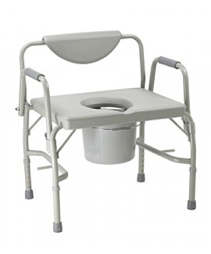 Harvy Canes - Deluxe Adjustable Blow Molded Commode - Extra Wide - Heavy Duty