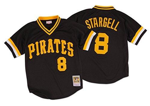 Mitchell & Ness Willie Stargell Pittsburgh Pirates #8 Men's Batting Practice Mesh Jersey (3XL/56) ()
