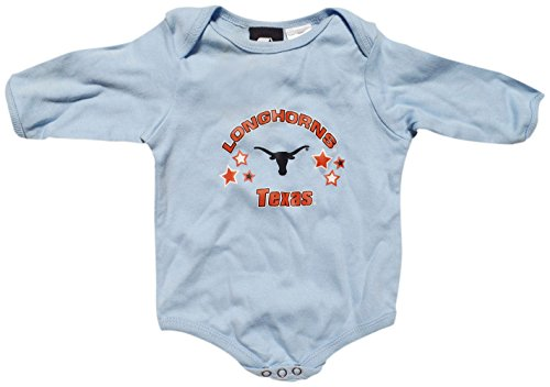 Texas Longhorns Blue Baby / Infant Long Sleeve Onesie 3-6 Months (Texas Gear Longhorns Baby)