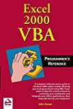 img - for Excel 2000 VBA: Programmers Reference book / textbook / text book