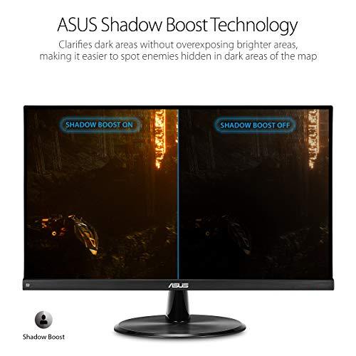 "Asus VP249QGR 23.8"" Gaming Monitor 144Hz Full HD (1920 x 1080) IPS 1ms FreeSync Extreme Low Motion Blur Eye Care DisplayPort HDMI VGA,BLACK"