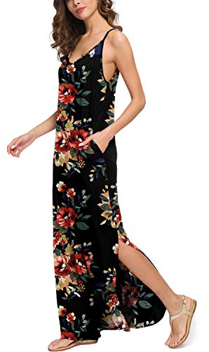 d693fbb6fab GRECERELLE Women s Summer Casual Loose Dress Beach Cover Up Long Cami Maxi  Dresses with Pocket