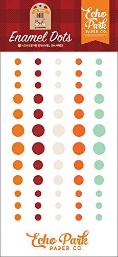 Echo Park Paper Company MFF187028 My Favorite Fall Enamel dots, Orange, red, Teal, Black, Green, tan - $4.99