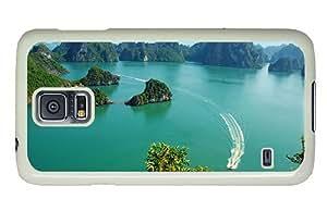Hipster on sale Samsung S5 Cases ha long bay vietnam PC White for Samsung S5