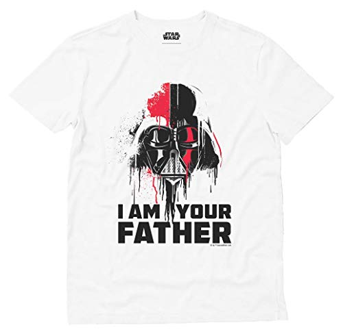 c70b29673e2 Musterbrand I Am Your Father Darth Vader Shirt Official Star Wars Dad  T-Shirt Large White