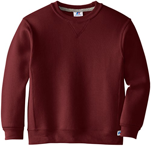 Russell Athletic Boys Dri-Power Fleece, Hoodies & Sweatpants, Sweatshirt-Maroon, Small from Russell Athletic