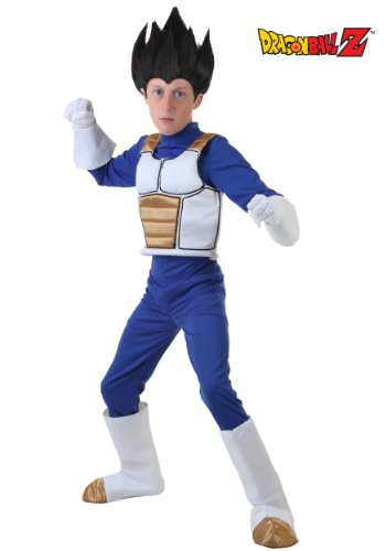 Big Boys' Dragon Ball Z Vegeta Costume Medium (Saiyan Halloween Costume)