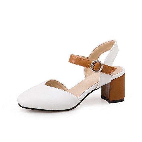 Sandalias Mujer 1to9 Blanco Con Cuña OXqwaw1Px