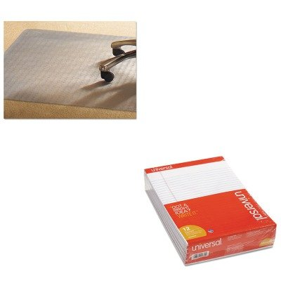 KITMPVV4660RSPUNV20630 - Value Kit - Mammoth PVC Chair Mat for Standard Pile Carpet (MPVV4660RSP) and Universal Perforated Edge Writing Pad (UNV20630) by Mammoth