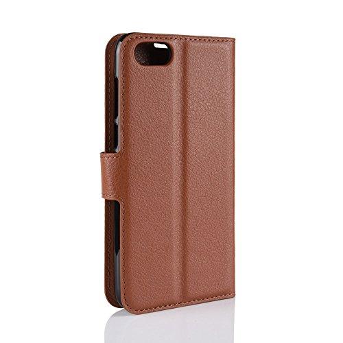 Flip In Custodia Rossa Cover Per Con Qualità Huawei Carte Marrone Hdomi Alta 2018 Y5 Le 2018 rosa Di fessure Pelle 6ZqwdI