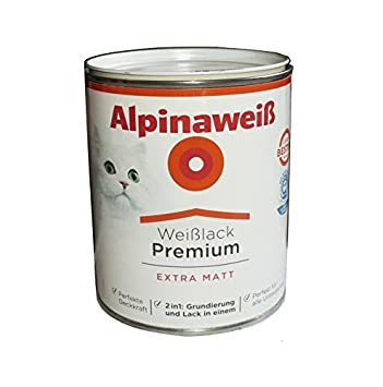 alpinaweiß 2 L Blanc laqué Premium Extra Blanc mat 2 en 1 Fond de ...
