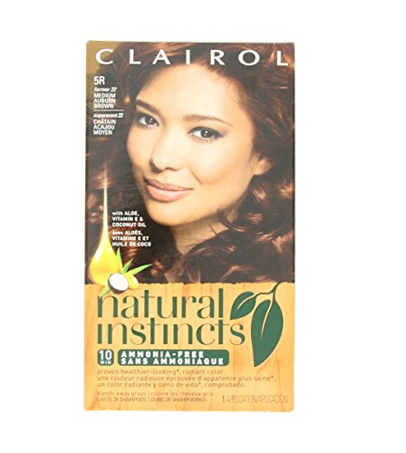 Natural Instincts #22 Size Kit Clairol Natural Instincts #22 Medium Auburn Brown