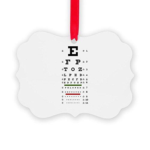 Picture Ornament Optometrist Opthamologist Eye Chart