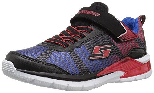 Skechers Kids Boys' Erupters II-Lava Waves Sneaker, Black/Red/Blue, 3.5 Medium US Big Kid