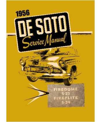 1956 DeSoto FireDome - FireFlite - Adventurer Factory Shop - Service Manual