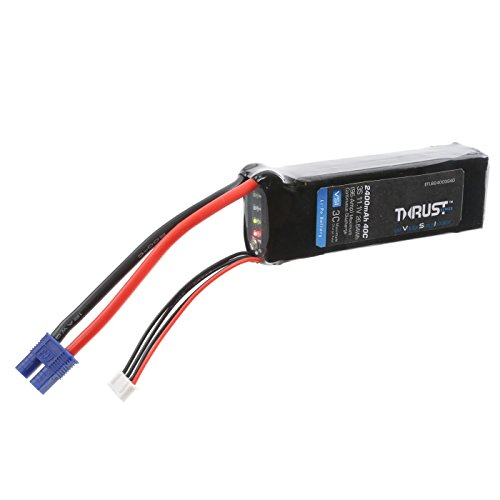 E-flite Thrust VSI 11.1V 2400mAh 40C 3S LiPo Battery: EC3, EFLB24003S40