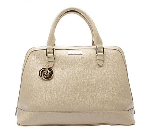 38900f2271a2 Versace Collection LBF0374 L260C Beige Leather Satchel