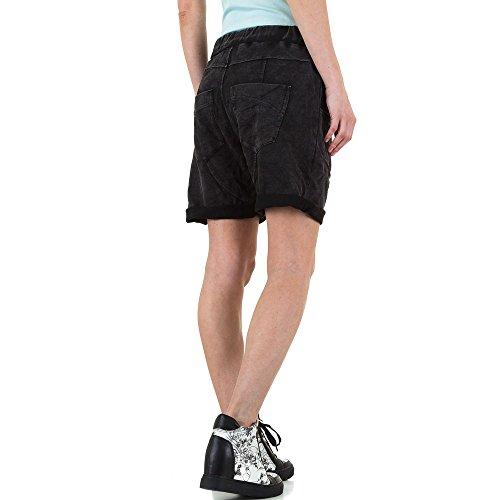 Boyfriend Shorts Für Damen , Schwarz In Gr. S bei Ital-Design