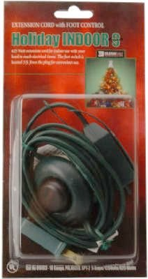 Coleman Cable 09493 9-Foot Christmas Extension with On/Off Foot Switch ()