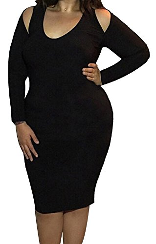 schwarz Kleid Damen Schwarz Etui Trendy C 38 X schwarz WvnB77