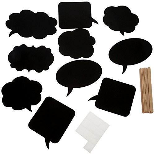 [10pcs Photo Booth Props Chalkboard [Blackboards] Funny Accessories for Wedding Baby  Birthday Anniversary Newborn Party Shower] (1920s Beach Costume)