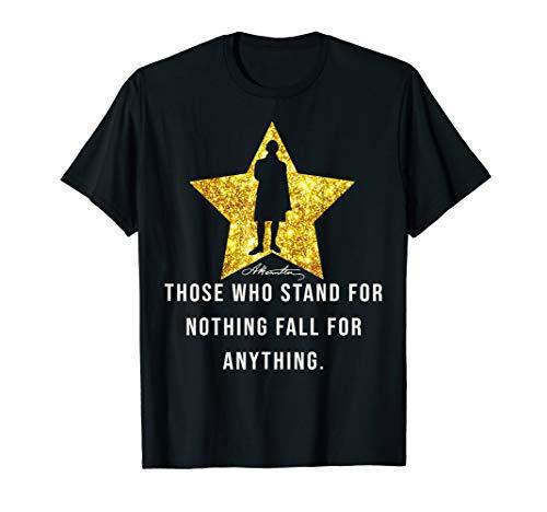 Alexander Hamilton Quote History Tee Gold Star T-Shirt