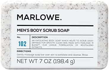 Marlowe. No. 102 Men's Body Scrub Soap 7 oz