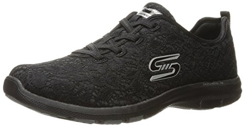 Skechers Sport Womens Galaxies Serene Vibes Fashion Sneaker Nero
