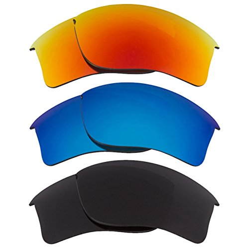 Best SEEK Replacement Lenses Oakley FLAK JACKET XLJ - Black Red - Oakley Flak Jacket And Red Black