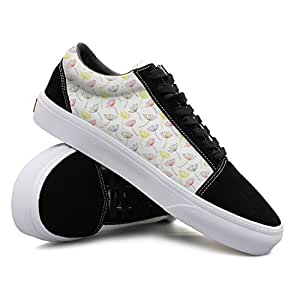 Colorful Decorative Dandelion Seeds Women Casual Sneakers Shoes Flat Cool Nursing Comfortable
