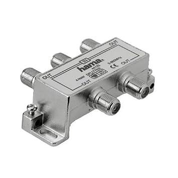 Hama Breitband-Kabel-Verteiler, 4fach: Amazon.de: Elektronik