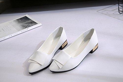 37 Femmes des plates doux Flood occasionnelles ultra Chaussures en dentelle avec Chaussures blanc chaussures en chaussures plates cuir TOwqnpf