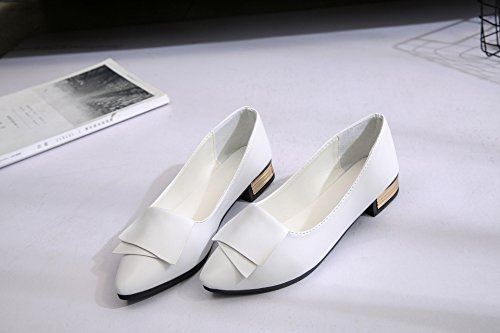punta Light Calzature di con di pelle singola 40 scarpe La da Casual Ultra donna Flat bianco piatto Scarpe Soft marea q8vwXt