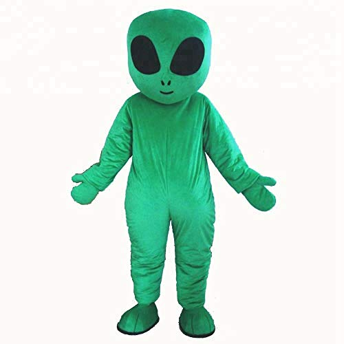 100% Real Photos Adult Green Alien Mascot Costume for Advertising Sports Mascot Funny Halloween Costume Deguisement Mascotte