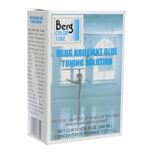 Berg Color-Tone, Brilliant Blue Toner for Black & White Prints, Makes 1 Quart, #BCT-BB32 by Berg