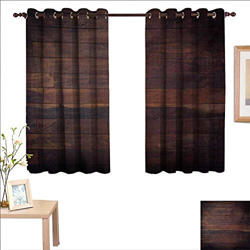 e Waterproof Window Curtain Aged Weathered Dark Timber Oak Wooden Planks Floor Image Country Life Carpentry 63
