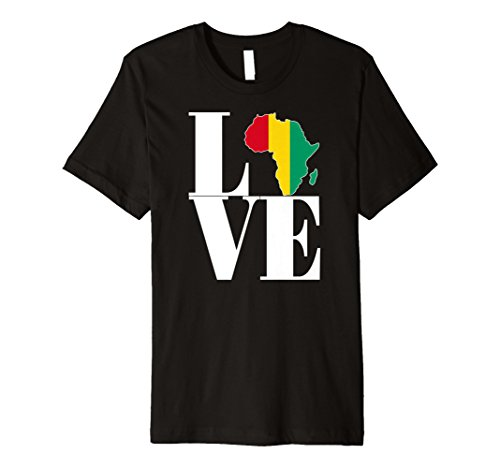 Guinea Conakry pride I love Africa map Guinea flag t-shirt (Africa T-shirt Map)
