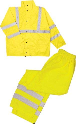 ML Kishigo RW110 Economy High-Viz Full Rain Suit, Fits 4X-Large and 5X-Large, Lime (High Viz Rain Suit)