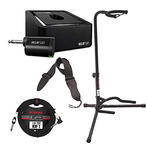 - Line 6 Relay G10 Digital Wireless Guitar System with Instrument Cable, Guitar Stand and Guitar Strap