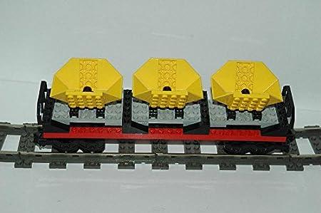 Lego Eisenbahn 9V Waggon mit Beton Mischern aus 4565 vollständig gebraucht #E19