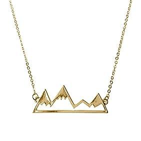 WeiVan Snowy Mountain Necklace Nature Minimalist Bridesmaids Boho Jewelry