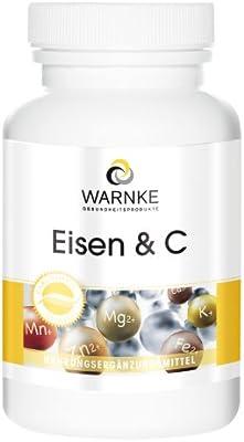 Hierro + Vitamina C, Con B12 y Biotina – 14mg de Hierro elemental ...
