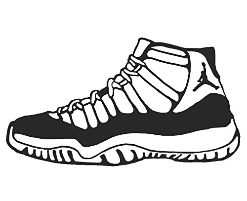 Amazon.com: Jordan 11 Shoe Sneaker Vinyl Sticker Decal Nike Space Jam  Concord Car Truck Auto Window: Arts, Crafts & Sewing