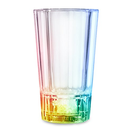blinkee Liquid Activated Tapered Multicolored Flashing Shot Glass for Night Parties - Tapered Shot Glass