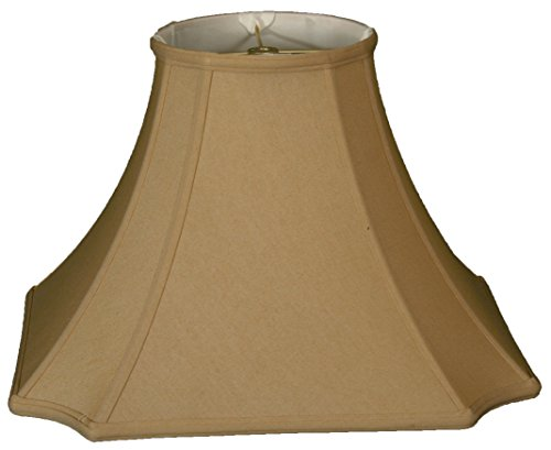 Royal Designs Inverted Corner W Round Top Wall Lamp Shade, Antique Gold, 5 x 11.5 x 8.5 by Royal Designs, Inc