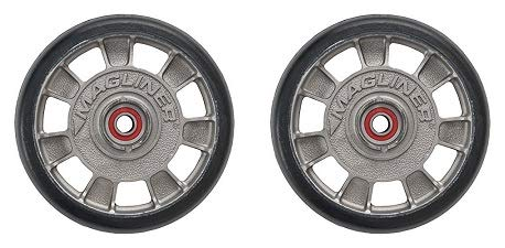 Magline 10815 8'' Diameter Mold On Rubber Wheel with Red Sealed Semi Precision Ball Bearings (2-(Pack))