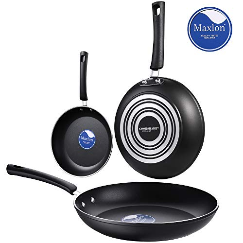 AMERICOOK Essential 3 piece, Nonstick Frying Pans Set - 8