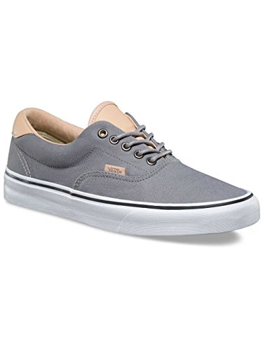 Vans Men's Era 59 (Veggie Tan) Skateboarding Shoes (8 B(M) US Women / 6.5 D(M) US Men, Frost Grey/True White)