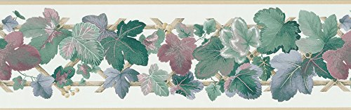 - Brewster 137B06930 Kitchen Bath Bed Resource III Leaf Scroll Wall Border, 6.875-Inch by 180-Inch, Brown