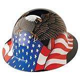Fibre-Metal by Honeywelll E1RW00A006 Spirit of America Full Graphic Brim Safety Hat